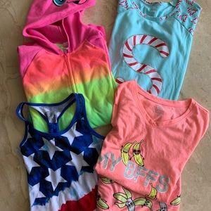 Justice girls pajamas (size 12/ 14)